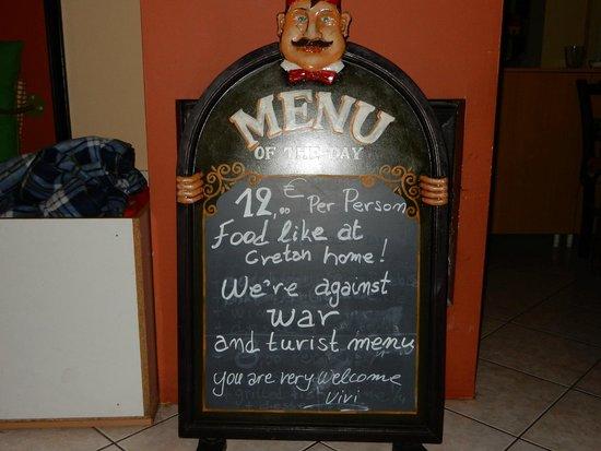 Vegera : Pure Cretan Cuisine - Excellent value!