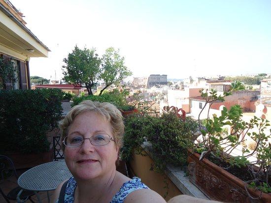 Hotel Lancelot: View from 6th floor terrace
