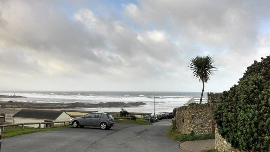 The Pot and Barrel: View from outside the property down to the beach