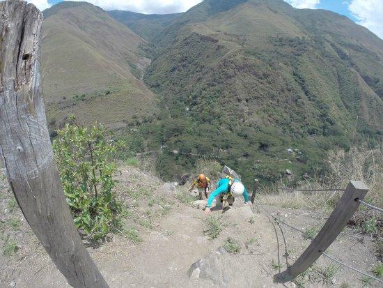 Zipline Cola de Mono: Climbing to the fourth zipline (photo from Alex C)