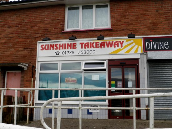 Sunshine Takeaway, Coedpoeth.