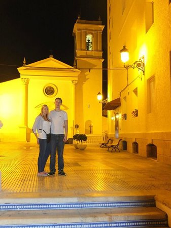 RH Hotel Canfali : Just outside the main door at night