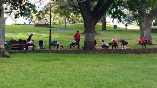 Flagstaff Gardens: Boot camp
