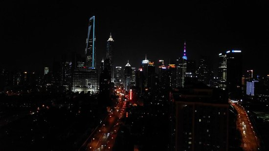 The Eton Hotel Shanghai: The night-time view from the 30th floor