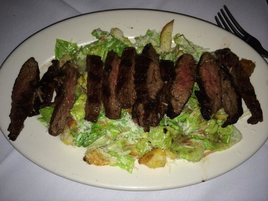 Pasta Connection: Steak and Cesar salad