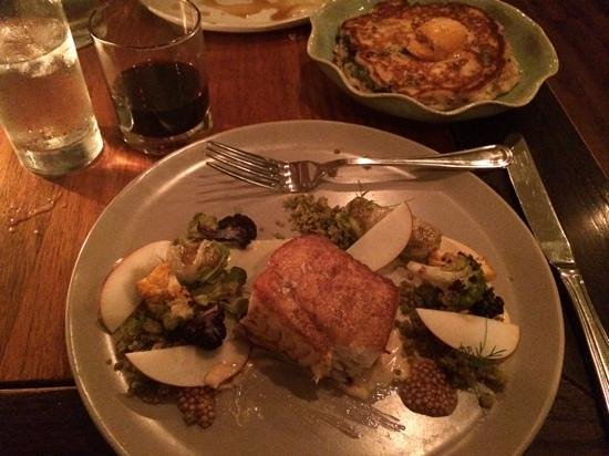 TSK - Thames Street Kitchen: halibut with apples and cabbage roll