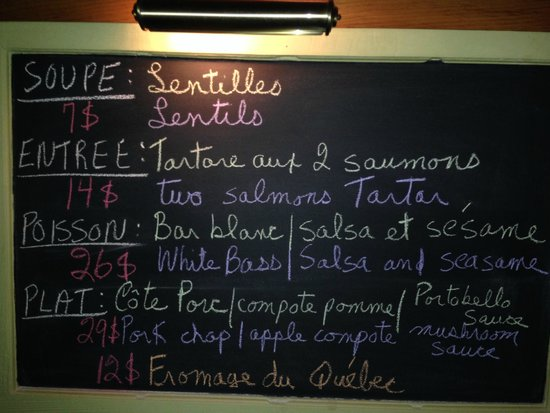 Restaurant La Petite Cachee: Always delicious options on their menu