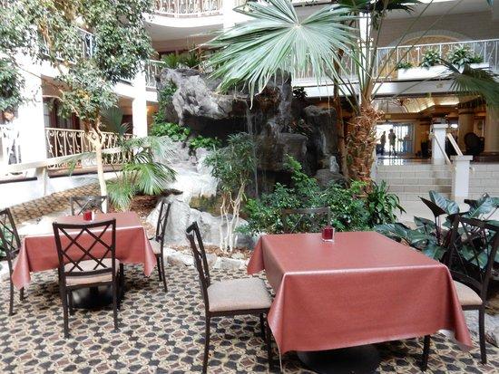 Embassy Suites by Hilton Denver Tech Center North: Atrium tables and plants