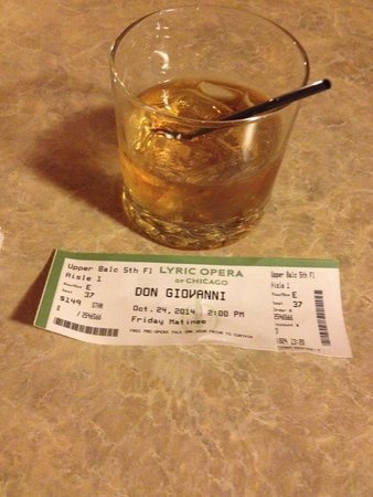 Lyric Opera of Chicago : Ticket: $149. Maker's Mark on the Rocks: $12 with tip. Spending the afternoon at the Lyric: Pric
