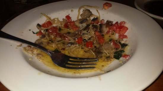 Johnny Carino's Italian: Not good at all. Dish was full of oil.