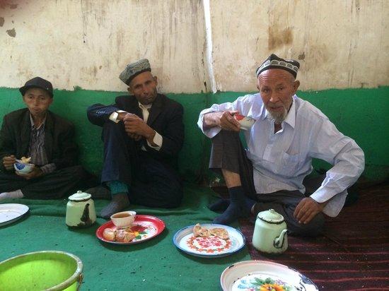 Kashgar Offbeat Tours Silk Road Adventure: Tea house discussion