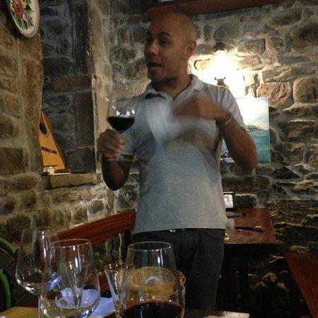 La Cantina dello Zio Bramante : Owner's grandson who conducts wine tastings