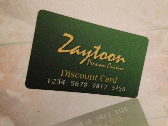 Zaytoon Restaurants: The menu