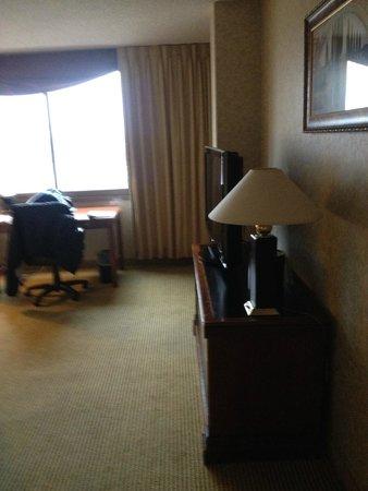 Hyatt Regency Rochester : View of desk/TV from door of 1218