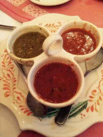 Epazote: Trio of salsa...all delicious!