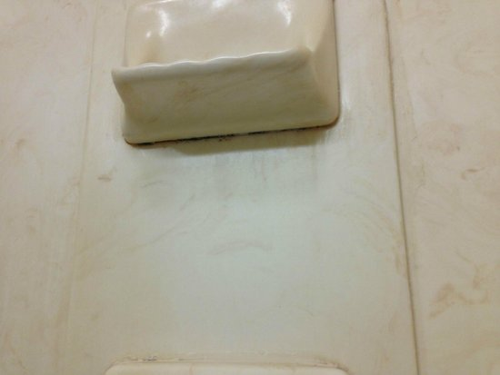 Country Inn & Suites by Radisson, Savannah Airport, GA : Mold/crap under the soap holder