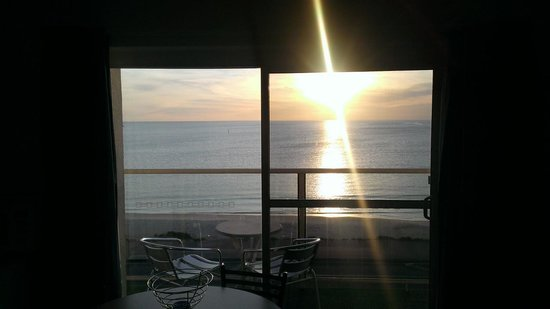Baybeachfront: View from lounge at sunset