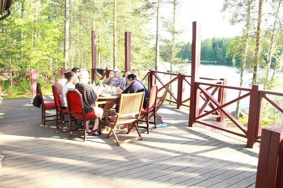 Hotel & Spa Resort Jarvisydan: Терраса коттеджа