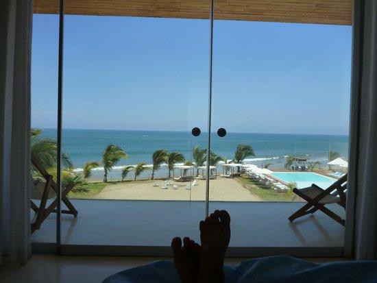 Mancora Marina Hotel : View from bed