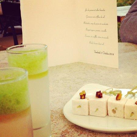 Amuse bouches fotograf a de restaurant les terrasses - Les terrasses uriage restaurant ...