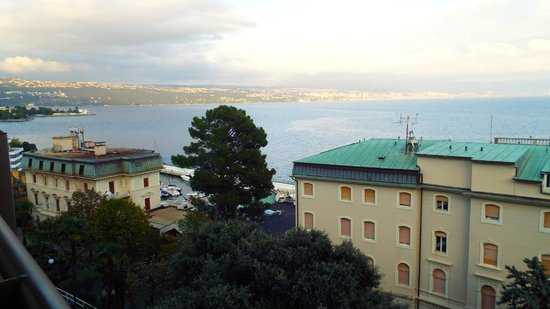 Grand Hotel Adriatic : View towards Rijeka from room