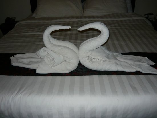 The Pool and Palm Villa: Swan Towels