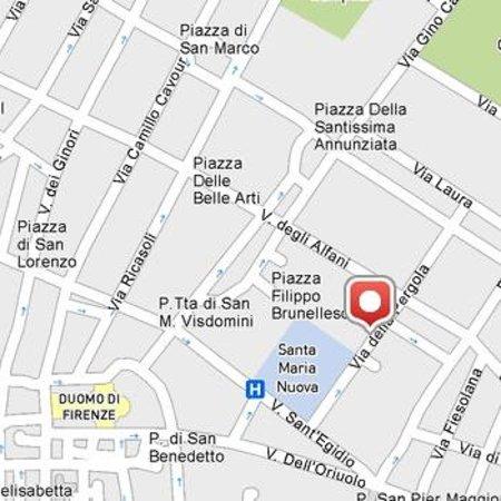 mappa/map - Picture of Soggiorno la Pergola, Florence - TripAdvisor