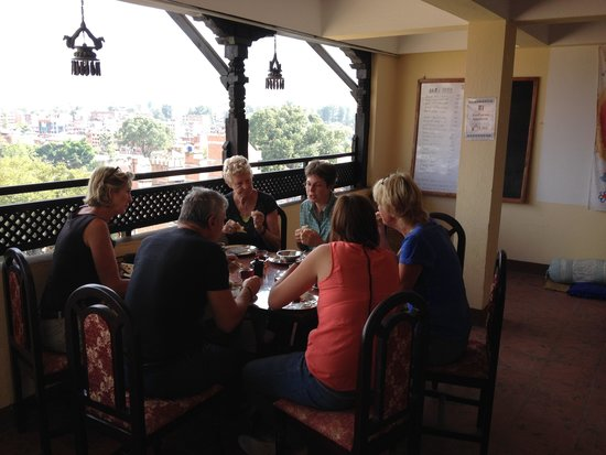 Heart of Bhaktapur Guest House: Guests having breakfast at terrace