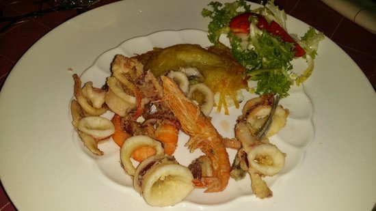 La Bettola : orata in crosta di patate con fritturina di pesce