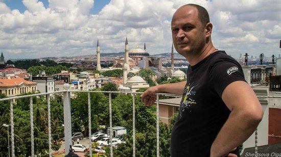 Sevila Hotel: Вид с террасы днем