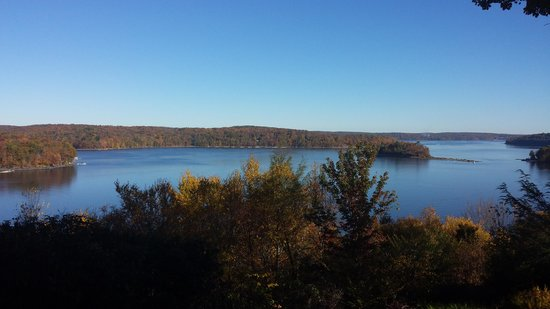 Lake Wallenpaupack: Viw from the deck