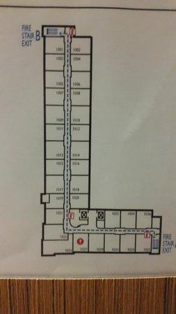 Aloft Houston by the Galleria: Hotel Floorplan