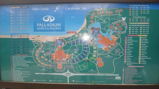 map - Picture of Grand Palladium White Sand Resort & Spa, Akumal ...