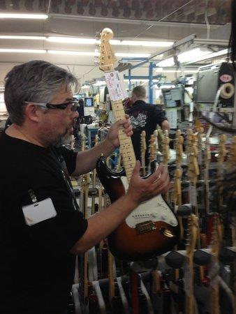 Fender Guitar Visitor Center : Final inspection.