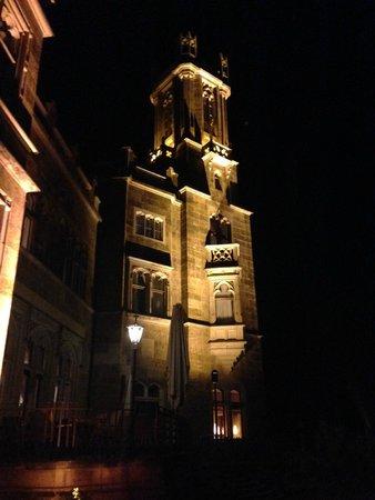 Hotel und Restaurant Schloss Eckberg: Schloss Eckberg bei Nacht