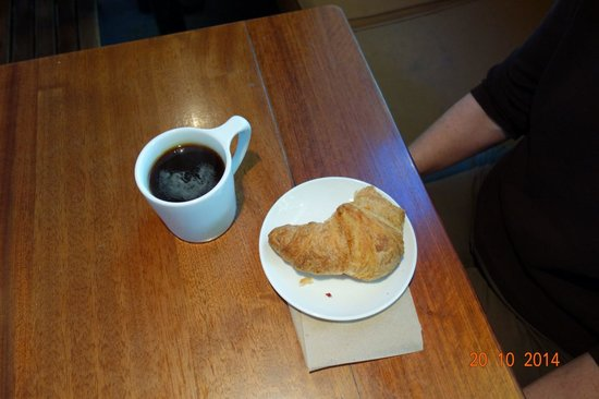 The Elysian Room: Croissant and Americano