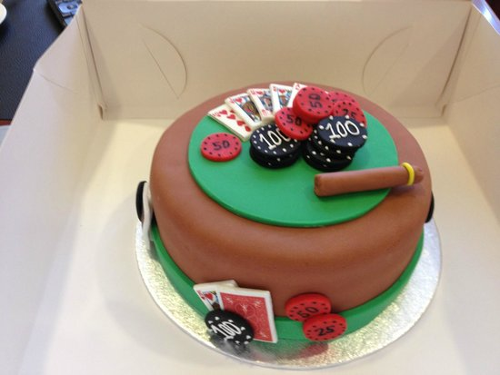 Fabulous Poker Themed Birthday Cake Picture Of Kaldis Koffee Monrovia Funny Birthday Cards Online Unhofree Goldxyz