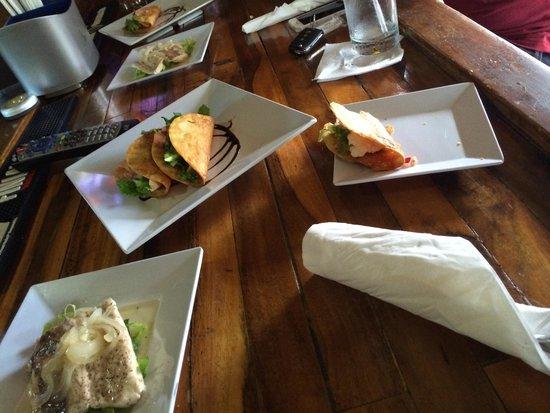 Moons Bar & Tapas: Cooked our fresh from our fishing trip Dorado (mahi mahi) to perfection, and we're super reasona