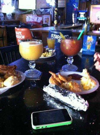 Tiny's Tavern: bar side table