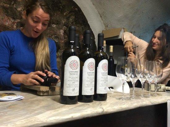 Your Greek Friend: Hand Labeling at Hatzidakis Winery