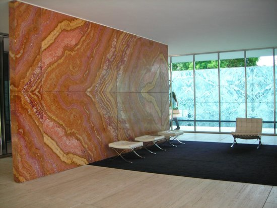 pabellon mies van der rohe amazing butterfly marble supporting wall