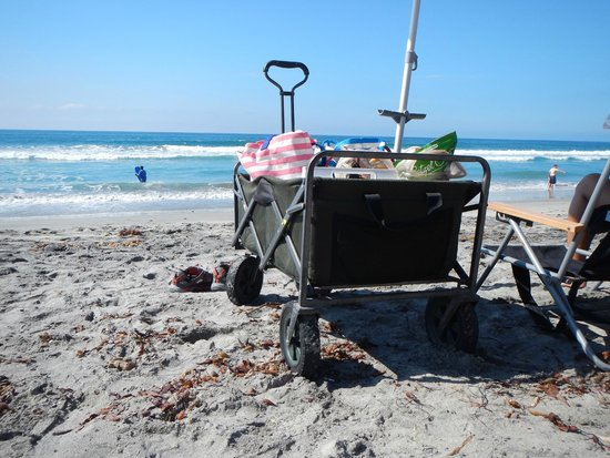 Carlsbad Seapointe Resort: Free rental of cart, chairs, umbrellas, boards, toys.