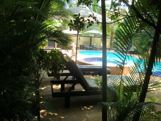 Pavillon Indochine Hotel : View from the private terrasse just outside the room