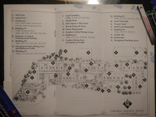 Carlsbad Seapointe Resort: Map