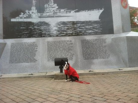 White River State Park: Jack visiting the USS Indianapolis Memorial