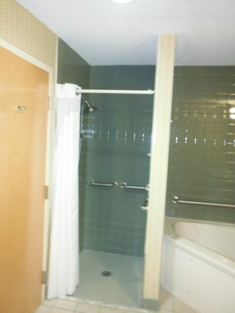 Holiday Inn Express North Conway: tiny and dark shower
