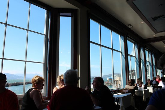 Anxiously awaiting the seafood cioppino picture of fog for Fog harbor fish house san francisco
