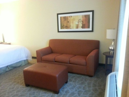 1 king suite w sofabed picture of hampton inn suites. Black Bedroom Furniture Sets. Home Design Ideas