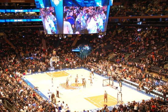 Ny Knicks In Madison Square Garden Picture Of Madison Square Garden New York City Tripadvisor