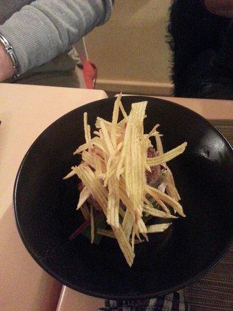 Bodega Poblet: Mini hamburger et frites allumettes